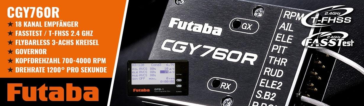 FUTABA CGY760R Kreiselempfänger mit GPB-1 Programmer