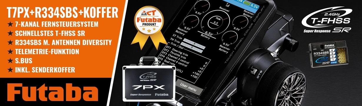 FUTABA T7PX 2.4GHz + R334SBS + Senderkoffer T7PX