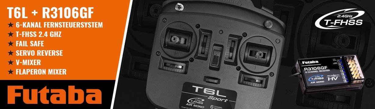 FUTABA T6L Sport 2.4GHz T-FHSS + R3106GF Mode 1