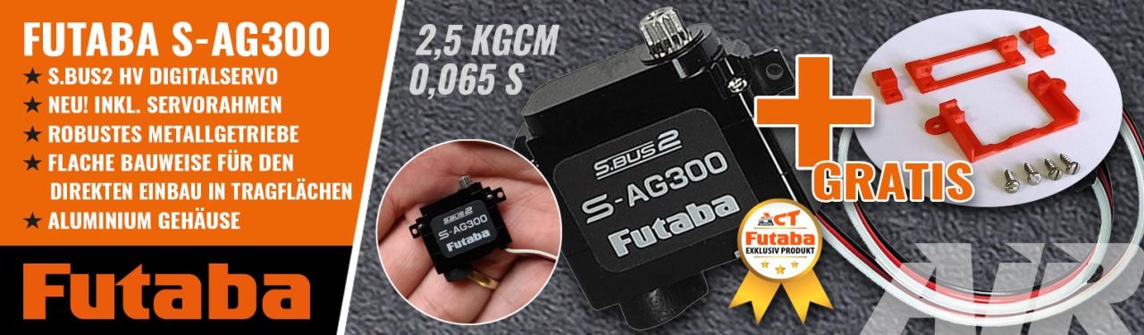 FUTABA Servo S-AG300 0,06s/2,5kg