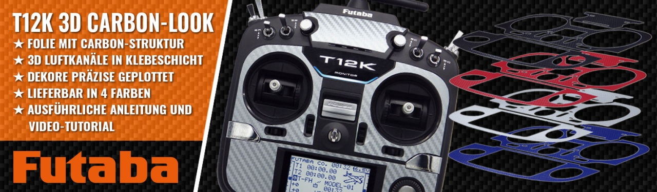 T12K 3D-Folie Carbonlook blau metallic