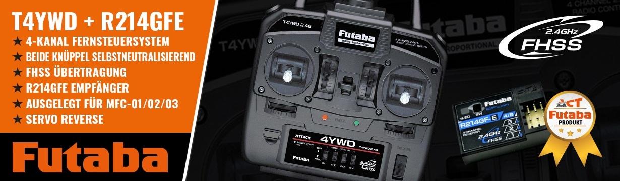 FUTABA ATTACK T4YWD FHSS + R214FGE