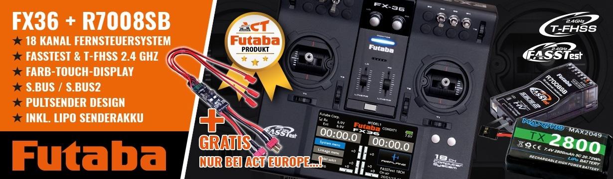 FUTABA FX36 +R7008SB 2.4GHz FASSTest +LiPo 2800mAh +DPS-25