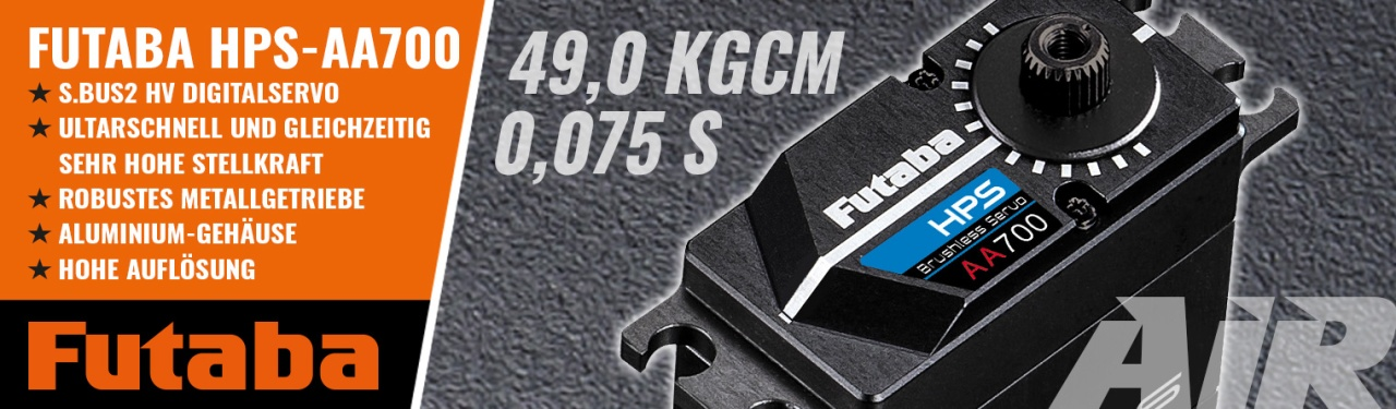 FUTABA Servo HPS AA700 0,075s/49kg