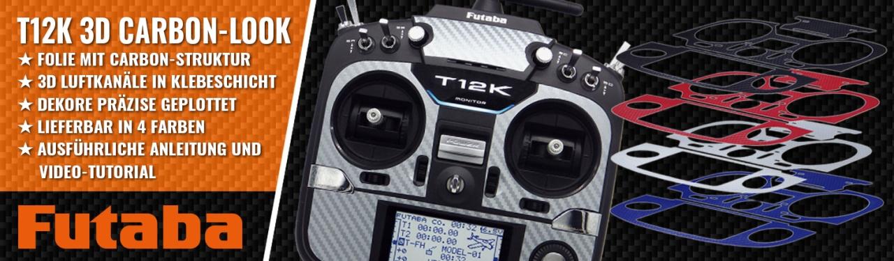 T12K 3D-Folie Carbonlook silber/grau