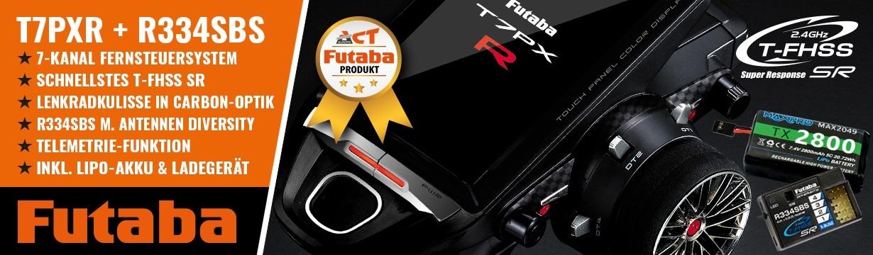 FUTABA T7PXR 2.4GHz + R334SBS + LiPo 2800mAh + Lader